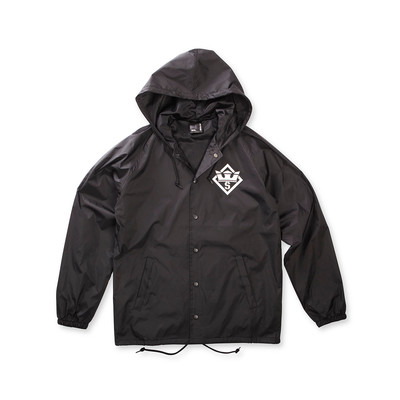 STENCIL HOODED COACHES JACKET