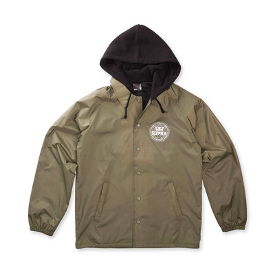 GEO HOODED COACHES JACKET